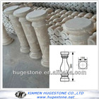 Indoor Beige marble columns, High Polished marble pillar