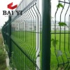 Green PVC Coated Steel Wire Mesh Fence