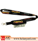 polyester lanyard with purse