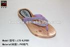 Flat pvc flip flop lady's slipper