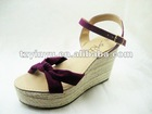 2012 New PU Leather Women Sandal Shoe & Ladies Casual Shoes