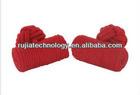handmade red barrel silk knot cufflinks