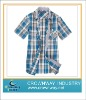 Mens checked shortsleeve shirts