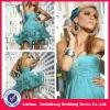 YD-12061115 Colorful Beading Organza Mini Rockabilly Girls Party Dress