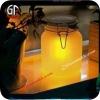 Glass Solar Sun Moon Jar