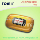 portable mini digital speaker with usb led light fq (T-813)