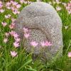 Outdoor fiberglass rock lawn speaker