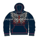 Men's knitted digital printed jacket hooded