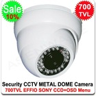 700TVL SONY EFFIO CCD CCTV Vandal-proof Metal IR Day/Night Dome Camera Outdoor