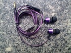 Metal Flat cable handsfree / Stereo Earphone