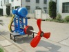 paper pulp chest agitator with electric motor