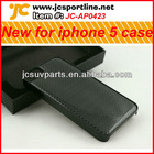 carbon fiber black case for Iphone 5 with plain weave pattern