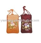 fashionable design mobile phone pouch with flower