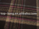 Plaid wool fabric