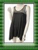 Women rayon spandex knitted chiffon neck tank top