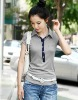 2012 casual standup collar T-shirt for lady