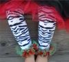 new design zebra baby legging warmers