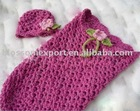 Knitted sleeping sack