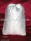 New designer beaded satin bridal bag HB2