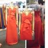Real sample fashion designer satin bridesmaid dress