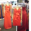 Real sample fashion designer satin bridesmaid dress