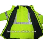 Fluorescent Yellow Waterproof Safety Parka