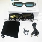 3d glasses for 3D LED TV, active 3d tv glasses, rechargeable