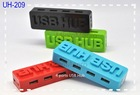 OEM/ODM Colorful simple trendy usb hubs 4 ports USB Hub, accept paypal