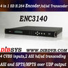 Cost-effective Multichannel SD H.264 ip Encoder,HD/SD mpeg2 to h.264 Transcoder with IP out