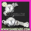 Wholesale Round Sterling Silver Pearl Fishhook Clasp