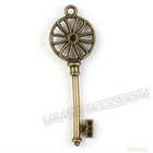 10pcs/packet, Wholesale New Key Vintage Bronze Alloy Pendants Findings 142388