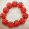 fashion cz shamballa resin pave mesh beads bracelet HU070