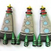 Rocket PVC Fridge Magnet