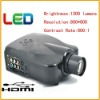 Mini LCD 1300 Lumens Projector VGA/HDMI/S-video For Home Theatre