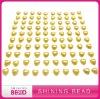 Latest fashion yellow heart pearl sticker