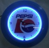 Neon Clock With Chrome frame