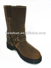 "Men's 10"" Western Nubuck Leather EH Wellington Cowboy Boots"