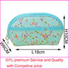 2012 fashion cotton cosmetic bag with flower