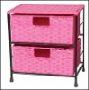 Paper drawers with powder coated metal frame cabinet