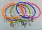 Neon silica gel band bracelet