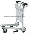 Stainless steel 3 wheels airport cart with brake (SM-SA081)