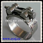 High torque unitary hose clamp