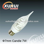2012 diameter7mm candle 7W Economic CFL