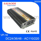 High Quality 3000W 240V inverter 12v/24v/48v VP18