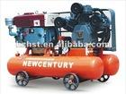 Double tank diesel piston air compressor