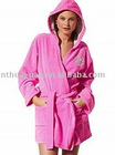 cotton girl's Bathrobes with a hood