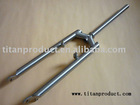 """Titanium Fork for MTB Bike Frame with 1"""" Steering Tube,Disc Brake and V Brake"""