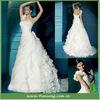 Fashion Lovely Romantic Organza White Wedding Dresses