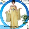 2012 Guangzhou wedding dress long sleeves yellow chiffon bridesmaid dresses ABN727#