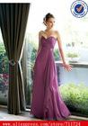 chiffon sweetheart strapless neckline slim bridesmaid dresses light purple
